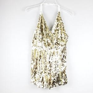 L'ATISTE BY AMY Sequin Shampagne Shower Romper